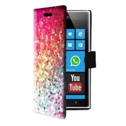 Etui housse portefeuille avec photo pour Microsoft Lumia 435