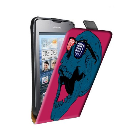Etui housse verticale avec photo pour Huawei G7