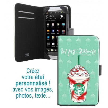Housse portefeuille avec photo pour Samsung Galaxy S6 Edge