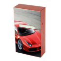 Etui à cigarettes personnalisable rouge - Cache paquet en métal