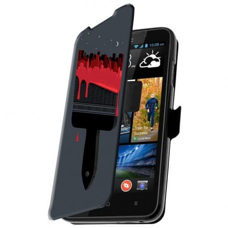 Etui housse portefeuille avec photo pour HTC Desire 516
