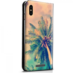 Housse portefeuille iPhone X personnalisable Blanche