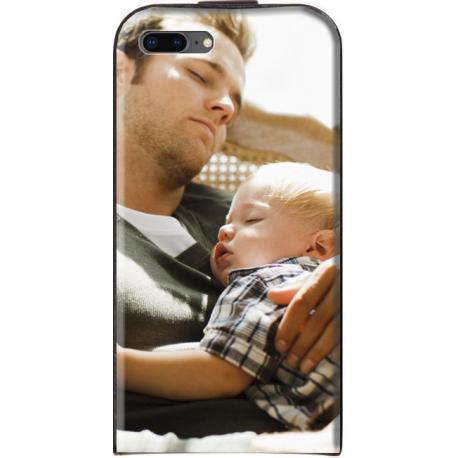 Housse verticale iPhone 8 Plus personnalisable Blanc