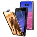 Housse verticale avec photo pour Sony Xperia M2