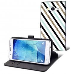 Etui housse portefeuille avec photo Samsung Galaxy J5
