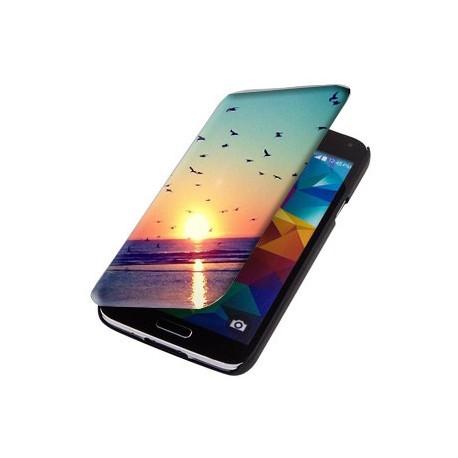 Housse verticale avec photo pour Samsung Galaxy S5 Mini