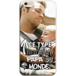 """Coque personnalisable avec photo iPhone 6/6s """"Meilleur Papa du monde"""""""