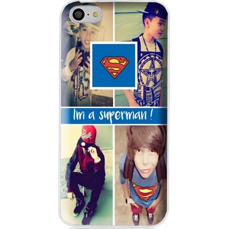 Coque avec photo montage Superman pour iPhone 5C