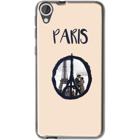 Coque avec photo Logo Paris HTC Desire 820