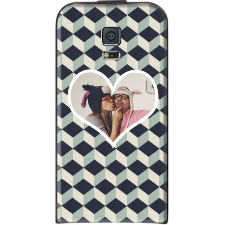 "Housse personnalisable avec photo Samsung Galaxy S5 ""Grey Cubik"""