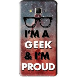 Coque Samsung Galaxy A7 personnalisable avec photo Im Geek & I'm proud
