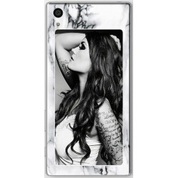 Coque Fond Marbre Blanc Sony Xperia Z5 personnalisable