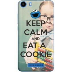 Coque avec photo Keep Calm and Eat Cookie pour Wiko Lenny 2